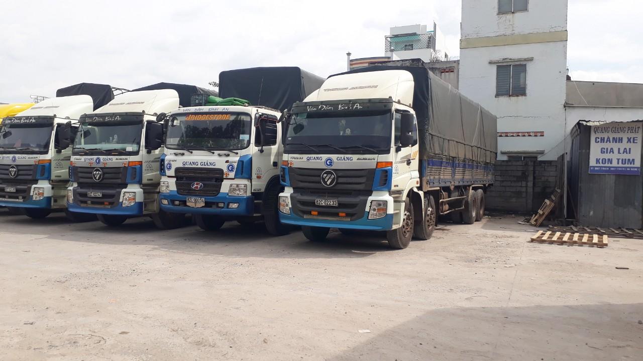 Nhận Chành xe tải hàng đi Kon Tum - Gia Lai Quang Giảng